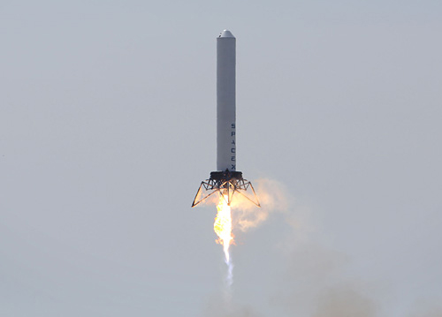 SpaceX Grasshopper Launch. Photo Credit: SpaceX