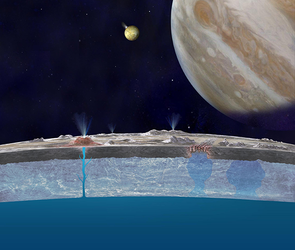 Taste of the Ocean on Europa's Surface (Artist's Concept)