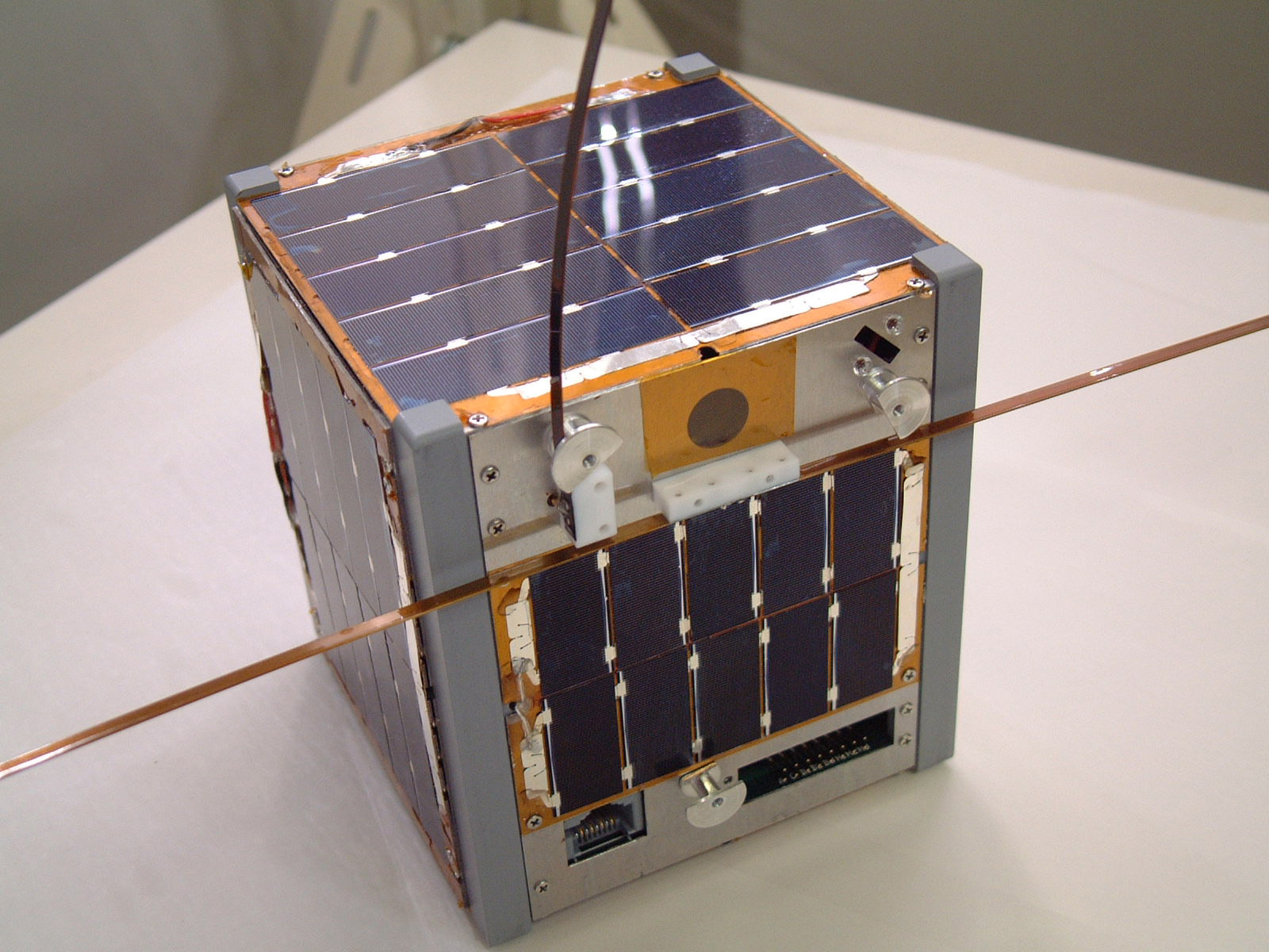 Photo of a typical 1U CubeSat.
