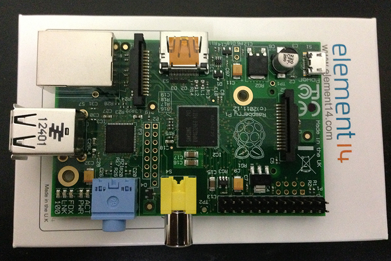 Raspberry Pi single-board computer from Element14.