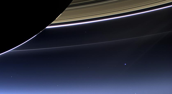The cameras on NASA's Cassini spacecraft captured this rare look at Earth and its moon from Saturn orbit on July 19, 2013. This is the second time that Cassini has imaged Earth from within Saturn's shadow, and only the third time ever that our planet has been imaged from the outer solar system. Image credit: NASA/JPL-Caltech/Space Science Institute