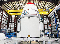 CRS-2 Dragon during prelaunch testing. Credit: SpaceX