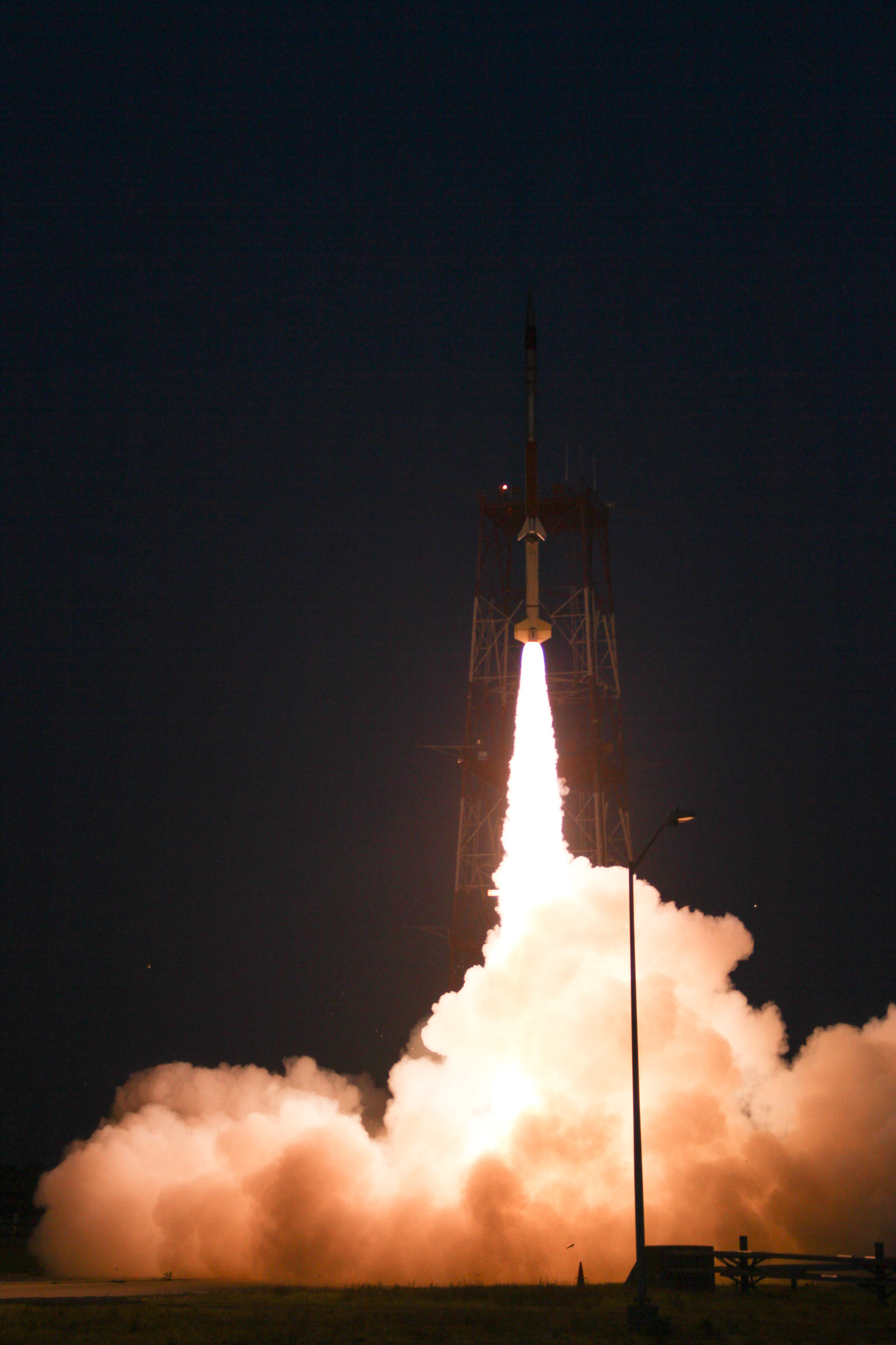 A Terrier-Improved Malemute suborbital rocket carrying experiments developed by university students nationwide in the RockSat-X program was successfully launched at 6 a.m. EDT August 13. Image Credit: NASA/Chris Perry