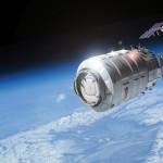 Artist's depiction of Cygnus at ISS. Photo Credit: Orbital