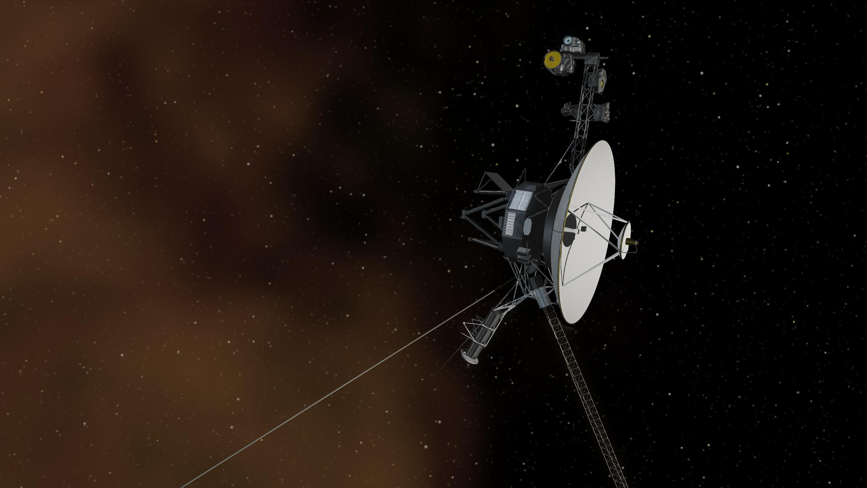 This artist's concept depicts NASA's Voyager 1 spacecraft entering interstellar space, or the space between stars. Credit: NASA/JPL-Caltech