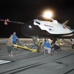 Sierra Nevada Corporation, or SNC, team members prepare for 60 mph tow tests of the company's Dream Chaser flight vehicle on taxi and runways at NASA's Dryden Flight Research Center at Edwards Air Force Base in California. Ground testing at 10, 20, 40 and 60 miles per hour is helping the company validate the performance of the spacecraft's braking and landing systems prior to captive-carry and free-flight tests scheduled for later this year. SNC is continuing the development of its Dream Chaser spacecraft under the agency's Commercial Crew Development Round 2, or CCDev2, and Commercial Crew Integrated Capability, or CCiCap, phases, which are intended to lead to the availability of commercial human spaceflight services for government and commercial customers. To learn more about CCP and its industry partners, visit www.nasa.gov/commercialcrew. Image credit: NASA/Ken Ulbrich
