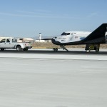 A pickup truck pulls the Sierra Nevada Corporation, or SNC, Dream Chaser flight vehicle through 60 mile per hour tow tests on taxi and runways at NASA's Dryden Flight Research Center at Edwards Air Force Base in California. Ground testing at 10, 20, 40 and 60 miles per hour is helping the company validate the performance of the spacecraft's braking and landing systems prior to captive-carry and free-flight tests scheduled for later this year. SNC is continuing the development of its Dream Chaser spacecraft under the agency's Commercial Crew Development Round 2, or CCDev2, and Commercial Crew Integrated Capability, or CCiCap, phases, which are intended to lead to the availability of commercial human spaceflight services for government and commercial customers. To learn more about CCP and its industry partners, visit www.nasa.gov/commercialcrew. Image credit: NASA/Ken Ulbrich