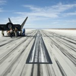Sierra Nevada Corporation, or SNC, team members check the company's Dream Chaser flight vehicle systems following a 60 mph tow test on taxi and runways at NASA's Dryden Flight Research Center at Edwards Air Force Base in California. Ground testing at 10, 20, 40 and 60 miles per hour is helping the company validate the performance of the spacecraft's braking and landing systems prior to captive-carry and free-flight tests scheduled for later this year. SNC is continuing the development of its Dream Chaser spacecraft under the agency's Commercial Crew Development Round 2, or CCDev2, and Commercial Crew Integrated Capability, or CCiCap, phases, which are intended to lead to the availability of commercial human spaceflight services for government and commercial customers. To learn more about CCP and its industry partners, visit www.nasa.gov/commercialcrew. Image credit: NASA/Ken Ulbrich