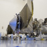 MAVEN undergoes prelaunch processing at Kennedy Space Center In September, 2013. Photo Credit: Val Phillips / Zero-G News