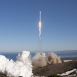 Upgraded Falcon 9 v1.1 blasts off from Vandenberg. Photo credit: SpaceX
