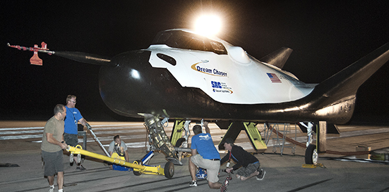 Dream Chaser is prepared for its inaugural free-flight test. Credit: Sierra Nevada Corporation.