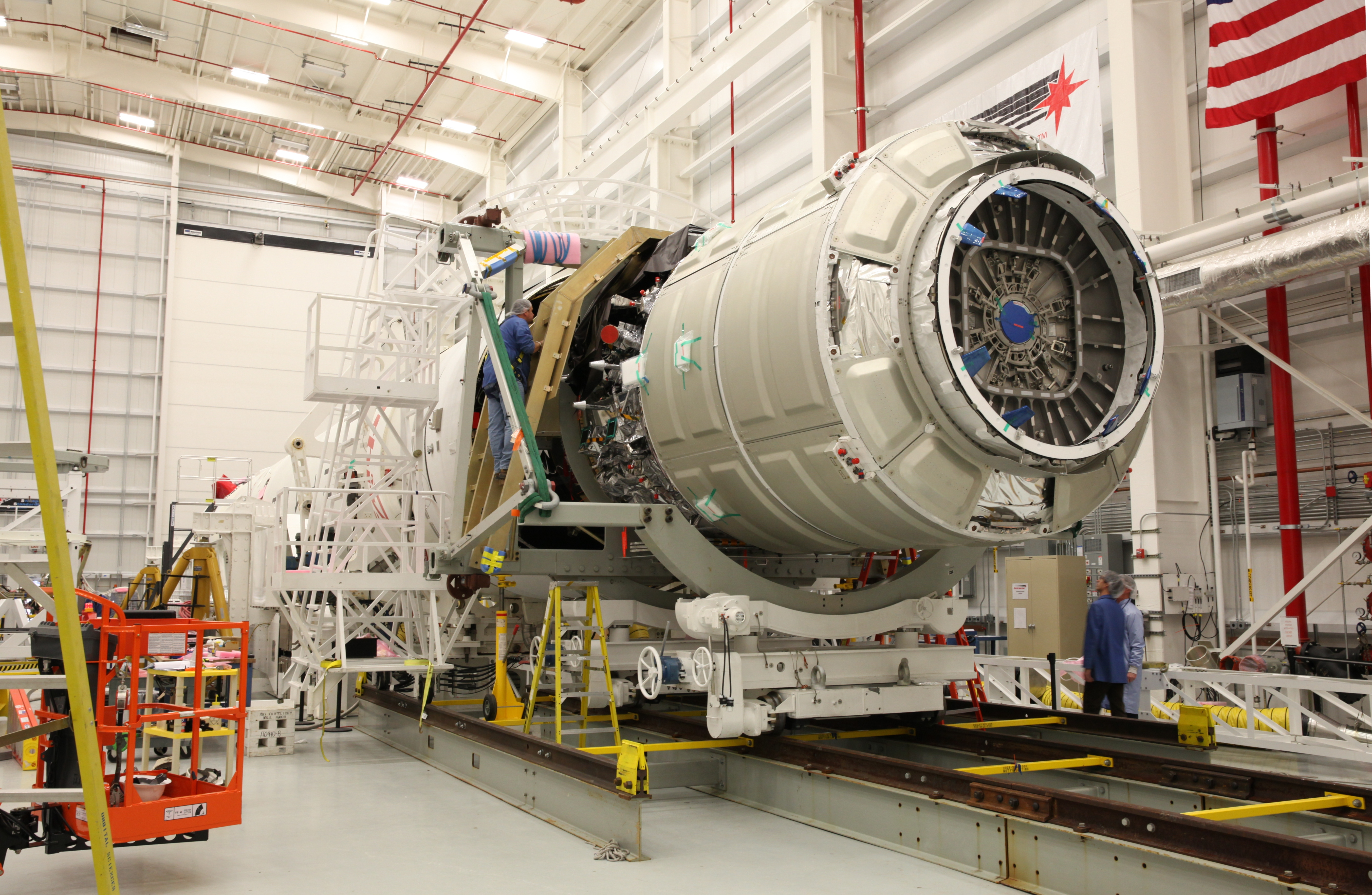 Orb-1 Cygnus mated to Antares. Credit: Orbital Sciences Corporation