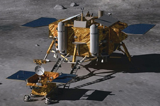 Chang'e 3 lander and rover. Credit: Beijing Institute of Spacecraft System Engineering