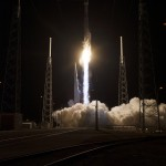KSC-2014-1242 - The United Launch Alliance Atlas V rocket lifts off from Space Launch Complex 41 at Cape Canaveral Air Force Station carrying NASA's Tracking and Data Relay Satellite, or TDRS-L, spacecraft to Earth orbit. Liftoff was at 9:33 p.m. EST. The TDRS-L spacecraft is the second of three new satellites designed to ensure vital operational continuity for NASA by expanding the lifespan of the Tracking and Data Relay Satellite System TDRSS fleet, which consists of eight satellites in geosynchronous orbit. The spacecraft provide tracking, telemetry, command and high bandwidth data return services for numerous science and human exploration missions orbiting Earth. These include NASA's Hubble Space Telescope and the International Space Station. TDRS-L has a high-performance solar panel designed for more spacecraft power to meet the growing S-band communications requirements. TDRSS is one of NASA Space Communication and Navigation's SCaN three networks providing space communications to NASA's missions. For more information more about TDRS-L, visit: http://www.nasa.gov/tdrs To learn more about SCaN, visit: www.nasa.gov/scan Photo credit: NASA/Tony Gray and Sandy Joseph