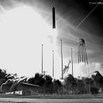 Antares blasts off with Cygnus Orb-1. Photo Credit: Mike Killian / AmericaSpace