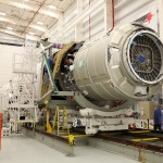 Cygnus is mated with its Antares carrier. Credit: Orbital Sciences / NASA
