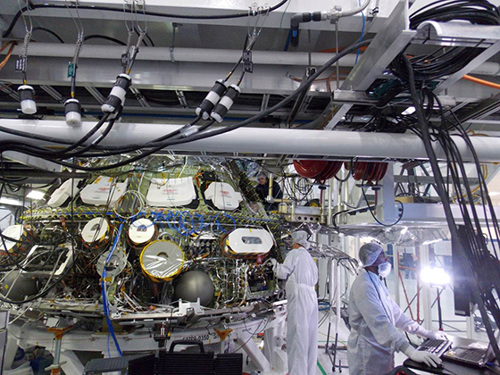 Lockheed Martin engineers testing the Orion crew module avionics system. Photo Credit: Lockheed Martin