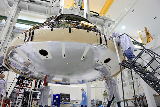 Orion Receives Heat Shield For Late 2014 EFT-1 Test Flight