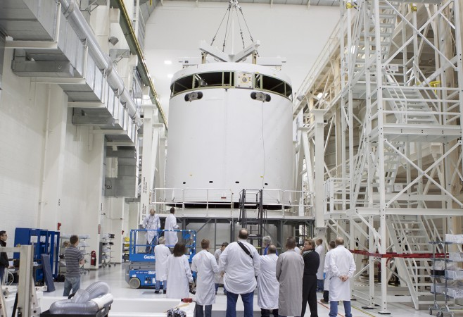 Orion Stacking Operations Begin For December EFT-1 Launch