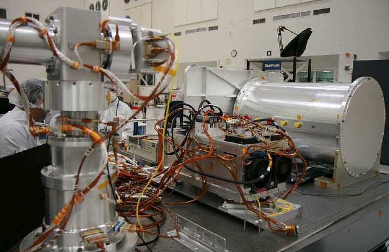Optical PAyload for Lasercomm Science (OPALS) Flight System hardware. Image is credited to NASA/JPL-Caltech.