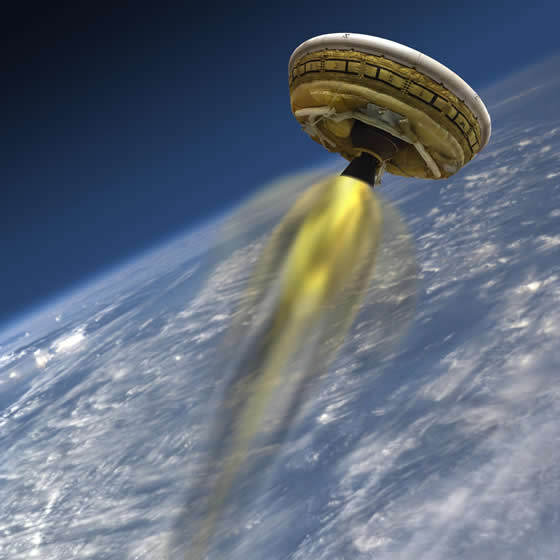 "NASA Readies Futuristic ""Flying Saucer"" For Flight Over Hawaii"