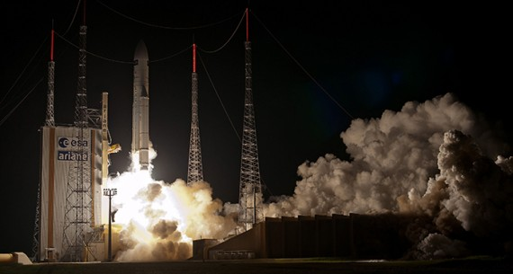 Final European Automated Transfer Vehicle Blasts Off On Ariane 5 To Resupply ISS