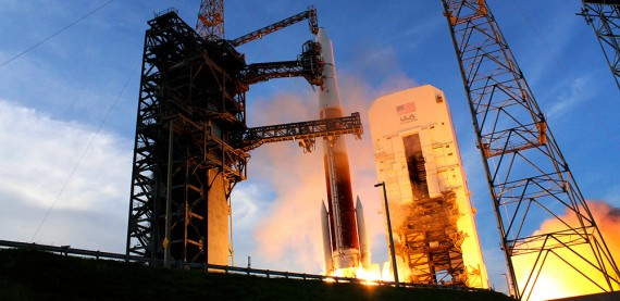 Delta IV Dodges Weather To Launch GSSAT Spacecraft On Fifth Try