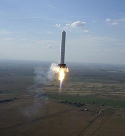 SpaceX Falcon 9R Rocket Explodes During Texas Test Flight