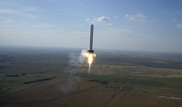 Successful launch of Grasshopper. Credit: SpaceX
