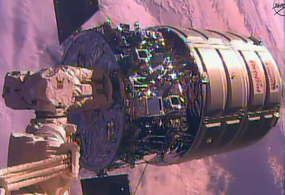 On Its Way To A Fiery Re-Entry, Orbital's Cygnus Departs ISS
