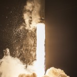 Falcon 9 liftoff, Dragon CRS-4 mission to ISS. Photo Credit: SpaceX