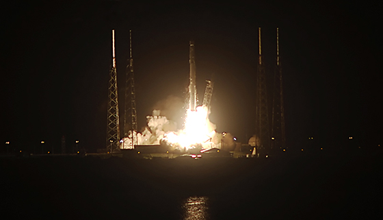 Falcon 9 blasts off with Dragon CRS-4. Photo Credit: SpaceX