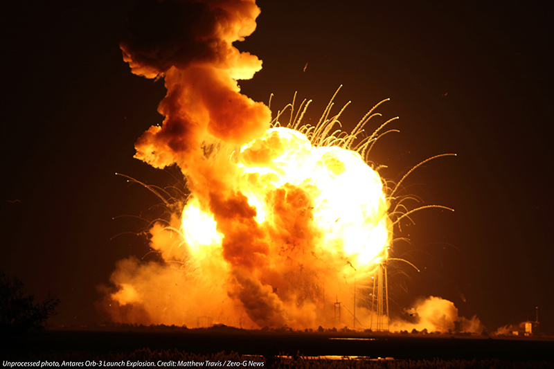 Antares explodes. Photo Credit: Matthew Travis