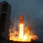 A United Launch Alliance Delta IV Heavy rocket blasts off from Space Launch Complex 37 at 7:05 am EST Dec. 4, 2014 carrying NASA's Orion EFT-1 mission. Photo Credit: Alex Polimeni / Zero-G News / AmericaSpace https://www.flickr.com/photos/126110094@N07/