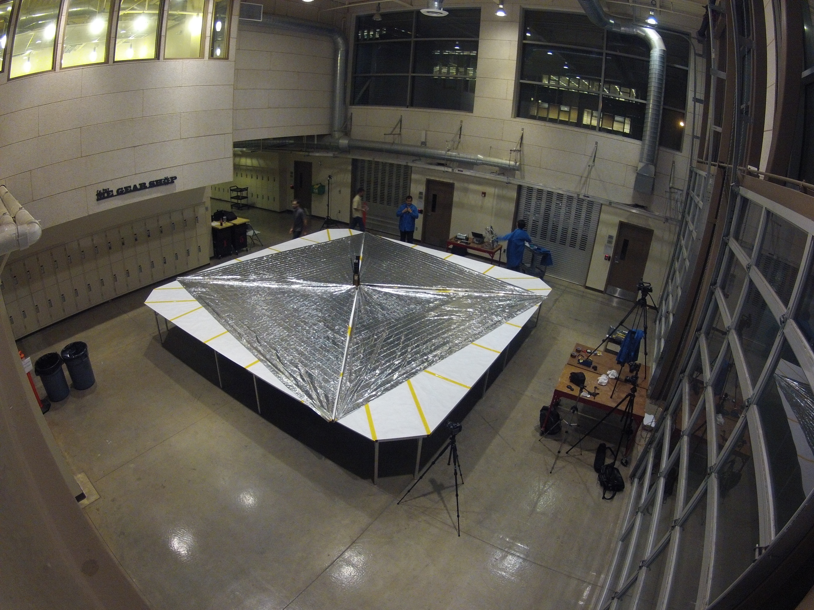 LightSail spreads its sails. Credit: Justin Foley