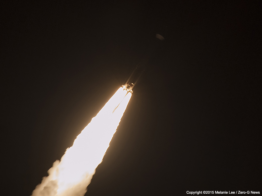 A United Launch Alliance Atlas V blasts off with MUOS-3 for the Navy. Photo Credit: Melanie Lee / Zero-G News