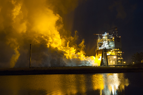 RS-25 Main Engine Testing Resumes At Stennis After Five-Year Hiatus