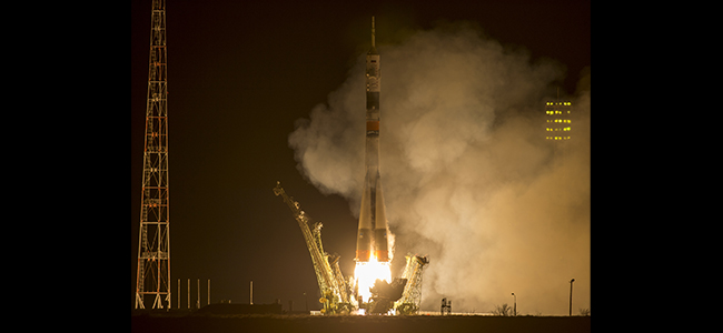 American And Russian Begin Yearlong Orbital Journey