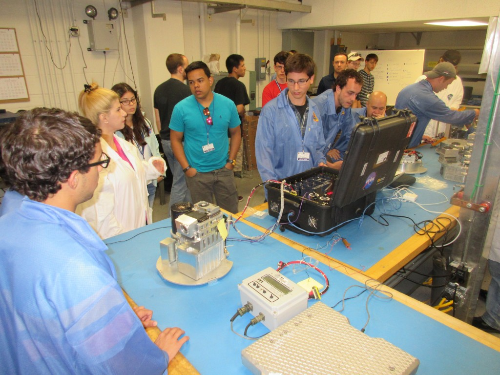 The University of Puerto Rico RockSat-X experiment undergoes testing at Wallops in the summer 2014. Image Credit: Colorado Space Grant Consortium