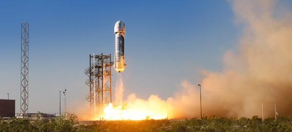 Blue Origin Conducts First Test Flight Of New Shepard Suborbital Rocket